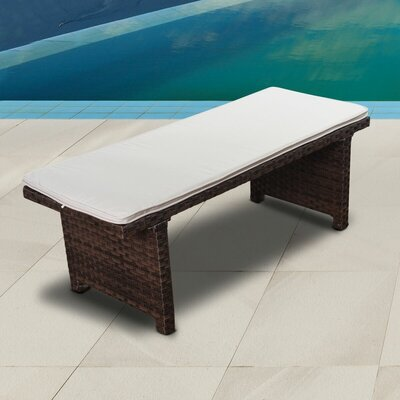 Breakwater Bay Florentina Garden Bench Color: Brown