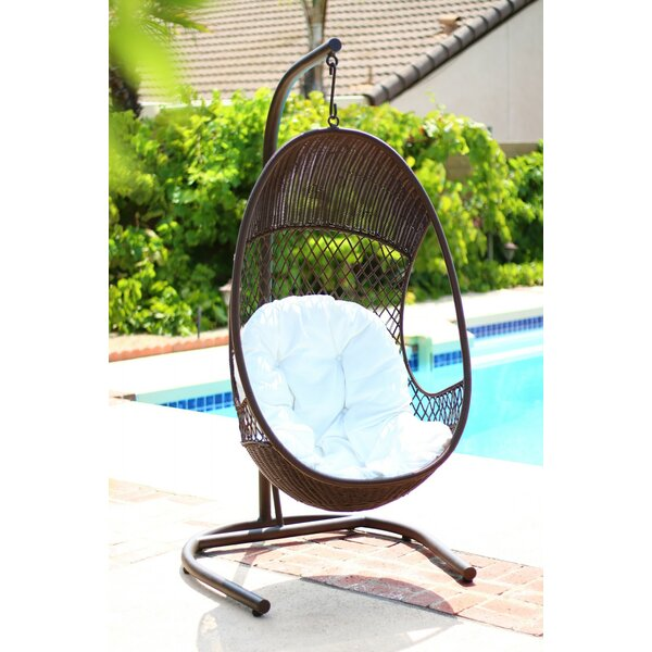 alpine alpine pe wicker swing chair with stand  u0026 reviews   wayfair  rh   wayfair
