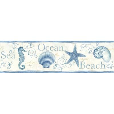 Seaside Living Island Bay 15 X 6 83 Seashells Wallpaper Border