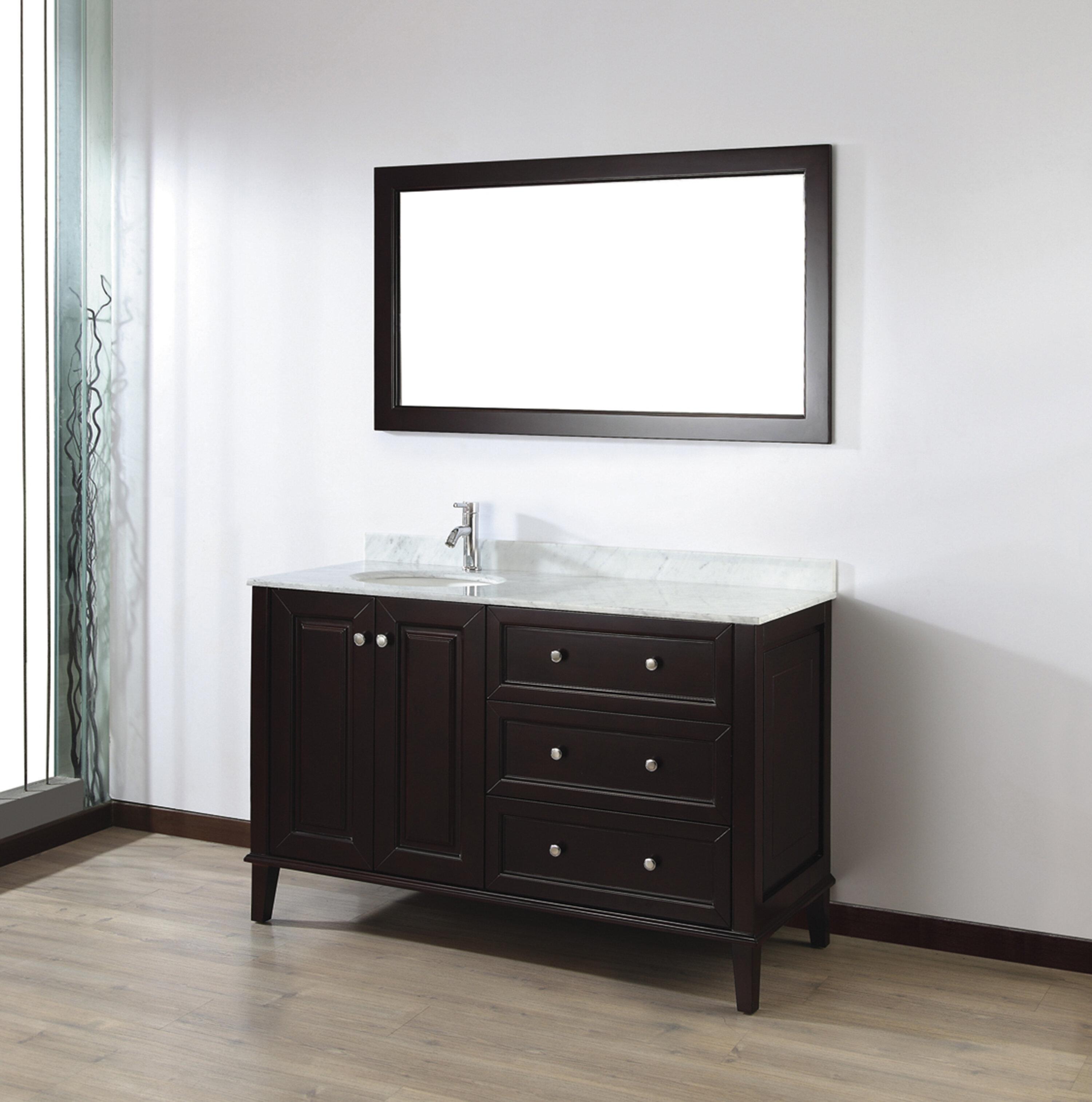 Bauhaus Bath Milly 55 Single Bathroom Vanity Set With Mirror Reviews Wayfair