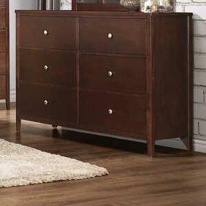 Ketcham 6 Drawer Double Dresser by Darby Home Co