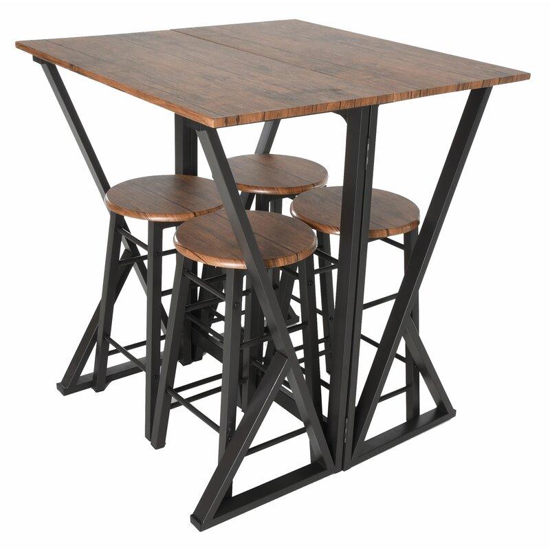 Maloney 5 Piece Pub Table Set