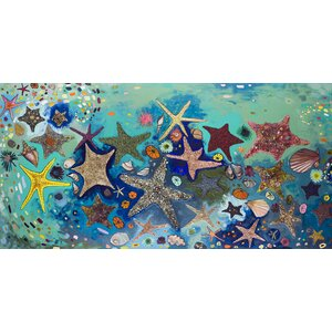 'Metallic Starfish' by Eli Halpin Painting Print Wrapped Canvas