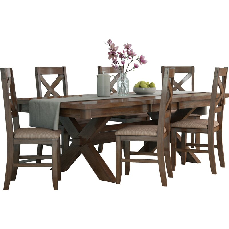 Wooden Small Dining Table And 2 Chairs Set Contemporary: Laurel Foundry Modern Farmhouse Isabell 7 Piece Dining Set
