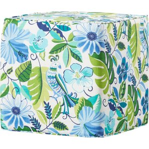 Mills Square Pouf Ottoman by Bay Isle Home