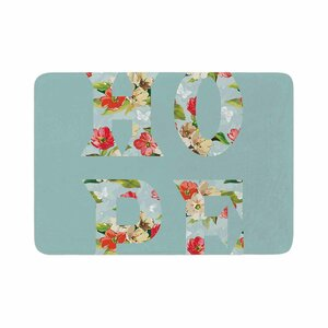 Suzanne Carter Hope Floral Memory Foam Bath Rug