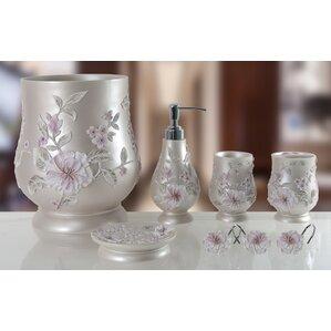 decorative melrose 5 piece bathroom accessory set