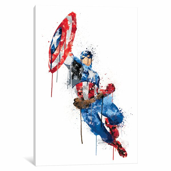Icanvas Avengers Assemble Captain America Watercolor By