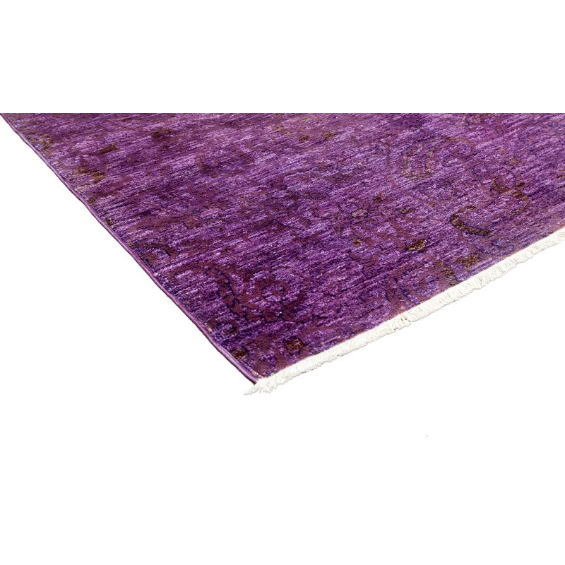 Solo Rugs One Of A Kind Vibrance Hand Knotted Purple Area Rug Perigold