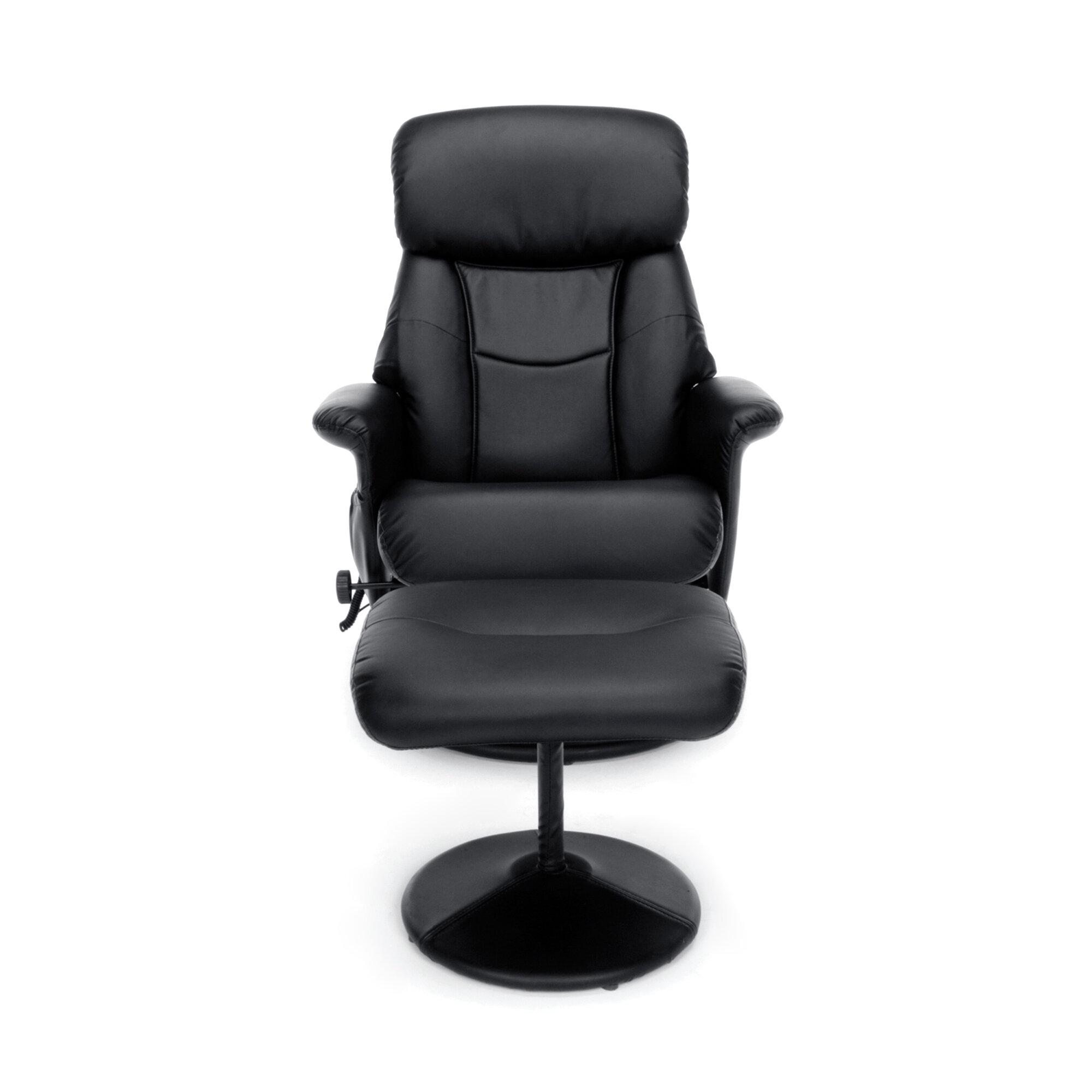 ofm essentials heated massage executive chair with ottoman wayfair