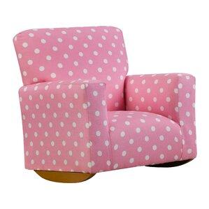 Becky Polka Dot Kids Cotton Rocking Chair by Viv + Rae