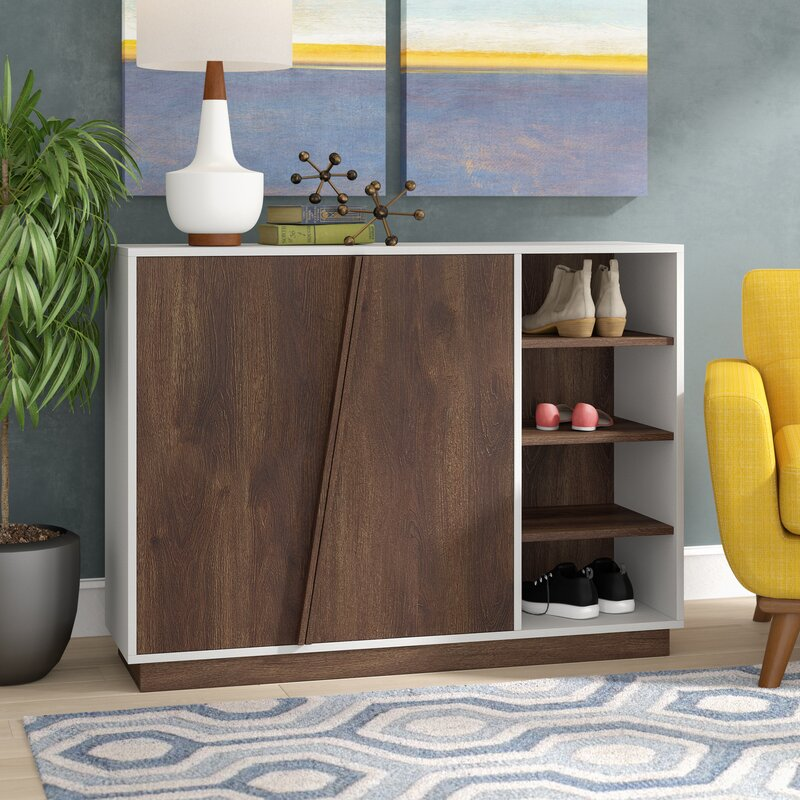 16 Pair Shoe Storage Cabinet