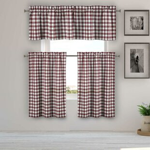Red Valances U0026 Kitchen Curtains Youu0027ll Love In 2019 | Wayfair