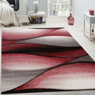 Brian Red/Grey Rug by Longweave
