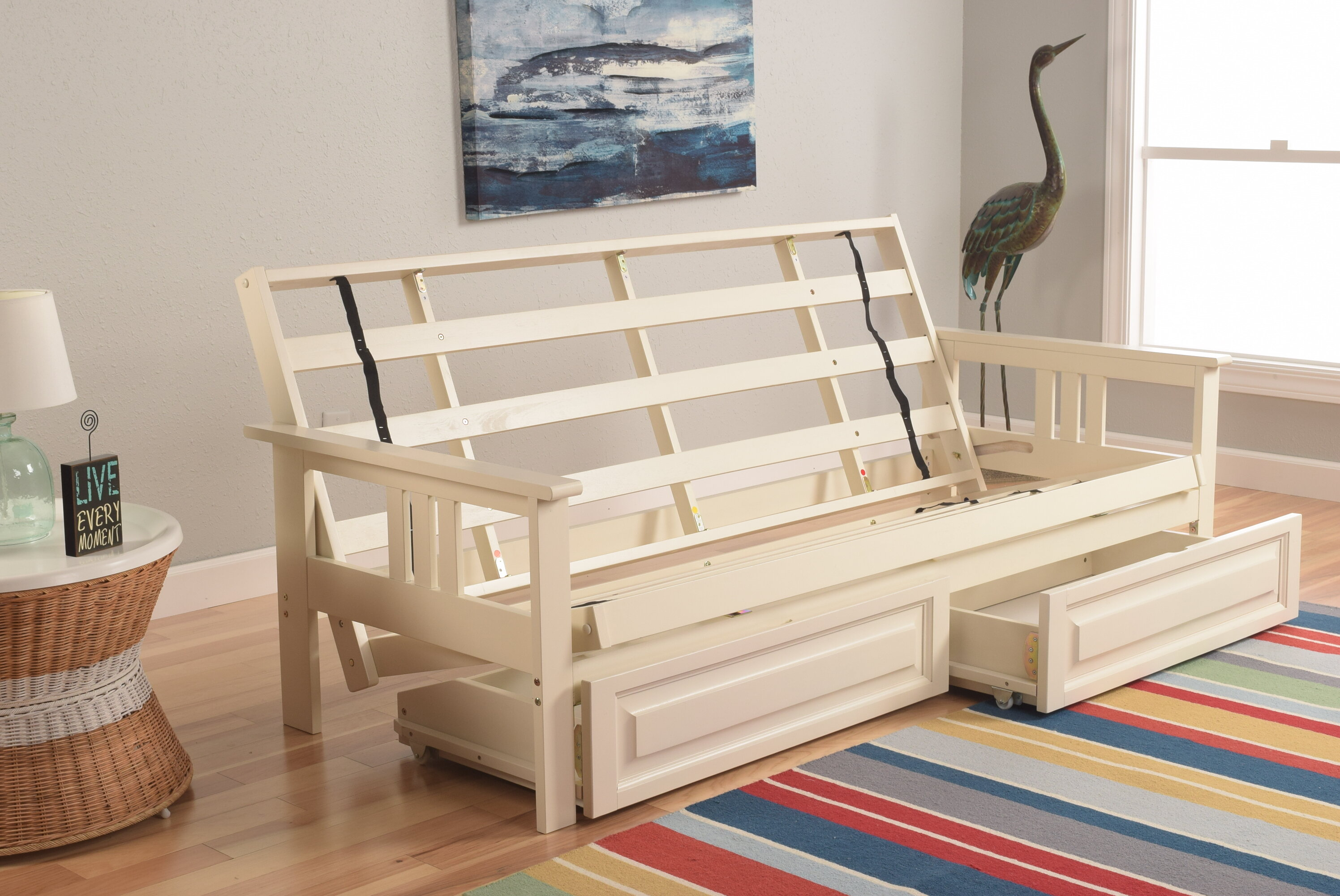 reputable site 9c231 d5630 Leavittsburg Futon Frame with Drawers
