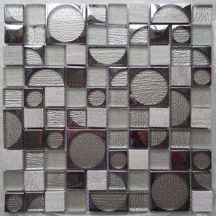 f65ff767424c Bombshell Colbalt Random Sized Glass Mosaic Tile in White Gray