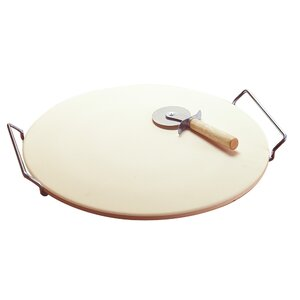 Easy Handle Pizza Grilling Stone