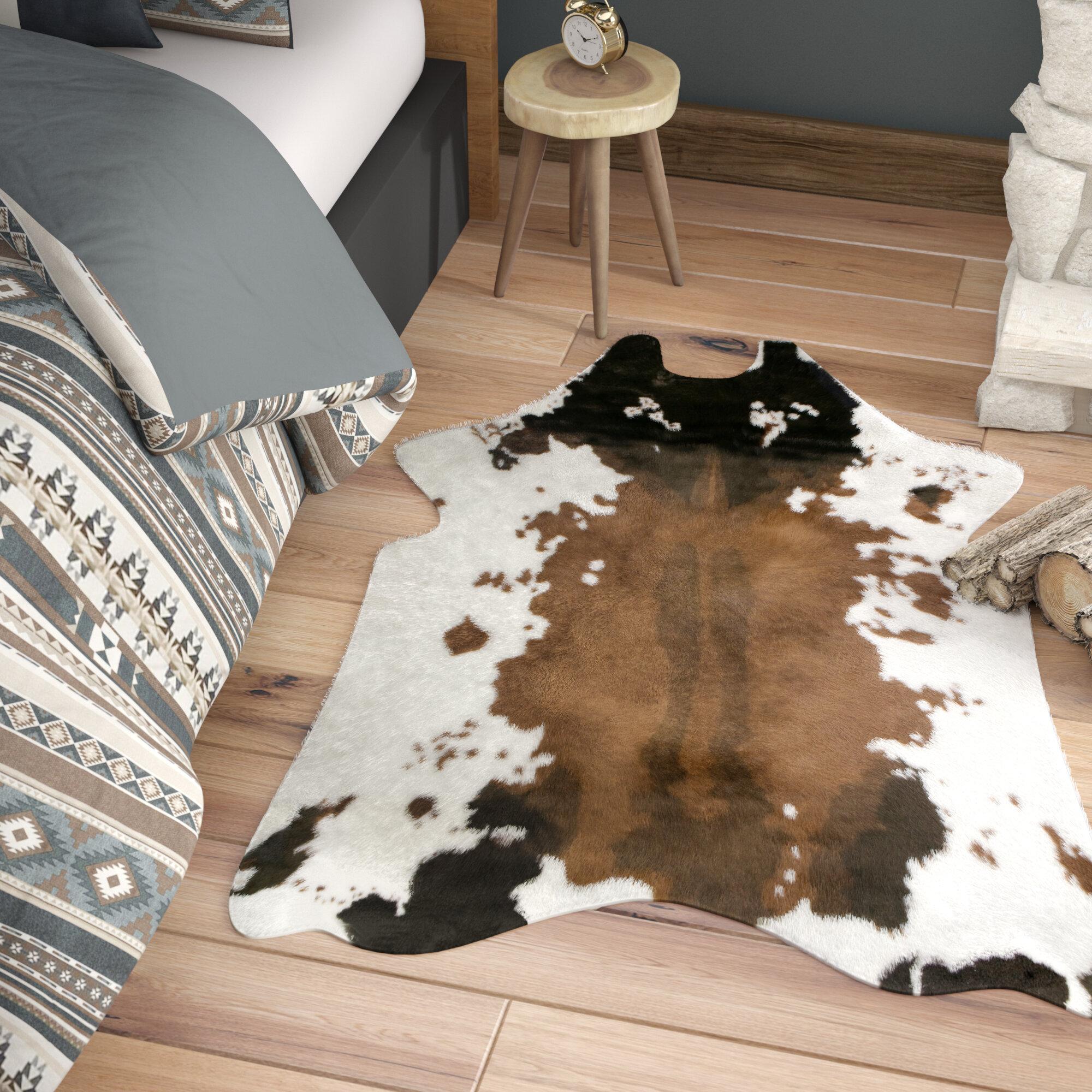 fake cow rug | wayfair