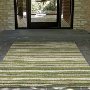 Deray Waves Rug Green/Beige Indoor/Outdoor Area Rug