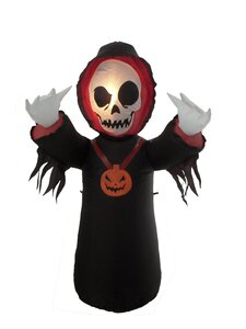 The Holiday Aisle Halloween Inflatable Grim Reaper ...