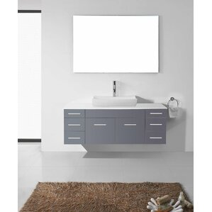 Annabelle 40 Inch Modern Bathroom Vanity Espresso Finish virtu usa | wayfair