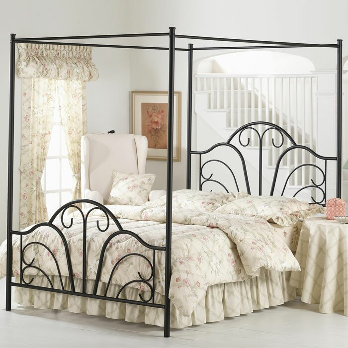 Metal Canopy Bed Frames lark manor aksel canopy bed & reviews | wayfair