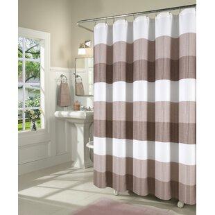 Mauldin Waffle Weave Fabric Single Shower Curtain