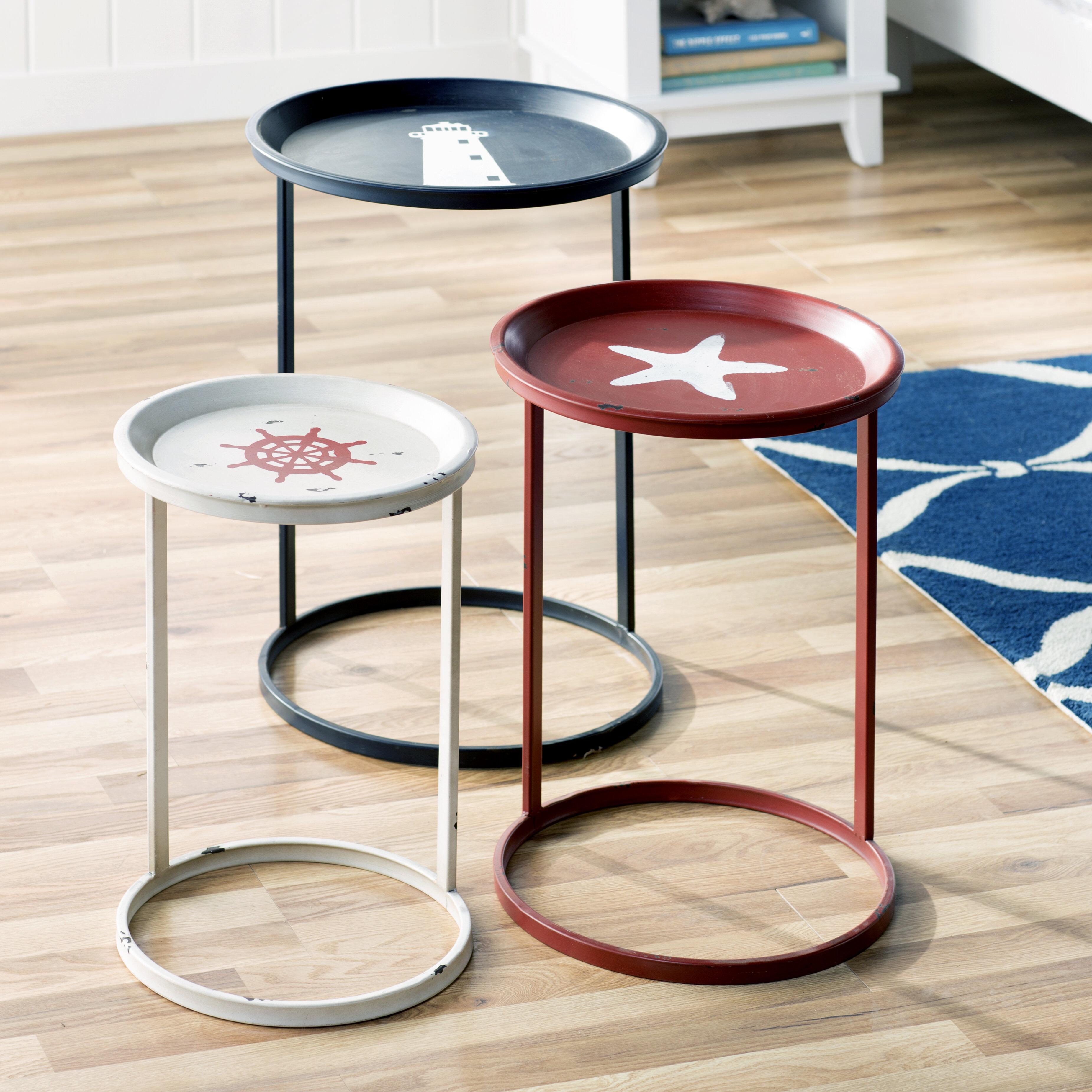 sc 1 st  Wayfair & Beachcrest Home Garrison 3 Piece Nesting Table Set \u0026 Reviews | Wayfair
