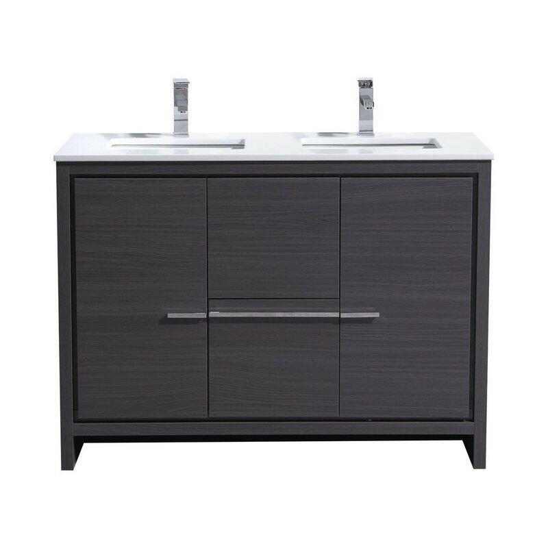 Astounding Bosley 48 Double Sink Modern Bathroom Vanity Set Download Free Architecture Designs Xoliawazosbritishbridgeorg