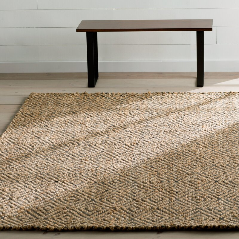 Grmere Hand Woven Natural Grey Area Rug