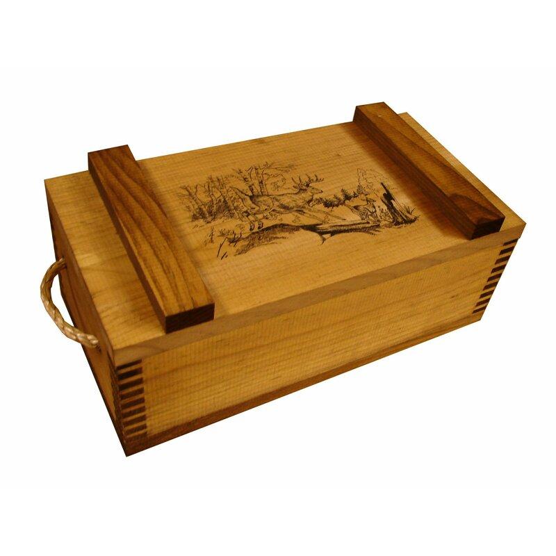 Evans Sports Wooden Crate With Running Deer Print Wayfair