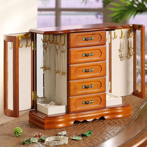 Darby Home Co Two Door Jewelry Box Reviews Wayfair