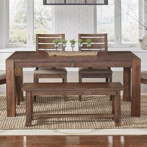 Johnston Leg Extendable Dining Table by Loon Peak