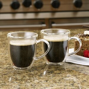 Insulated Glass 6 oz. Cappuccino Cup (Set of 2)