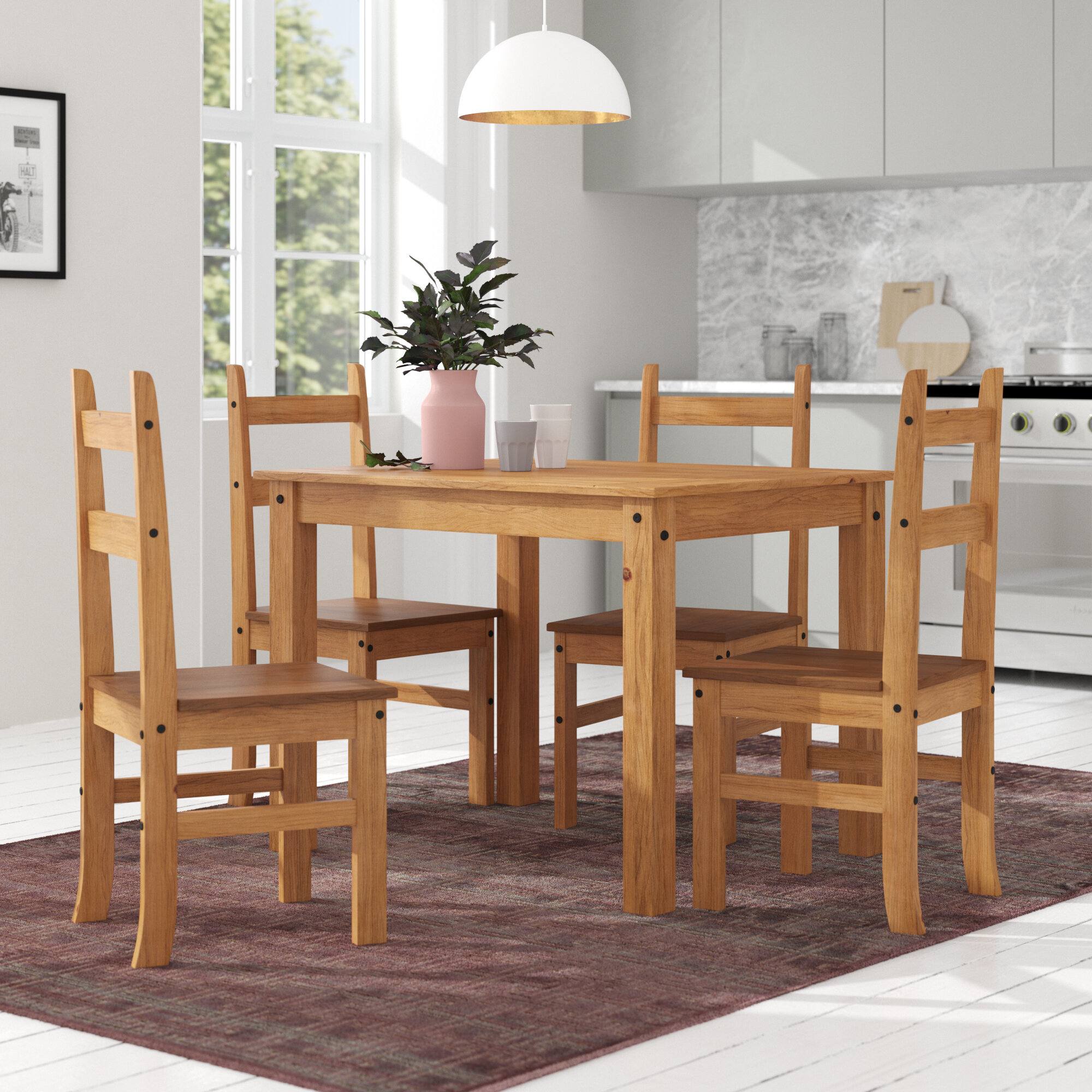 charlton home whipton budget dining table and 4 chairs reviews rh wayfair co uk