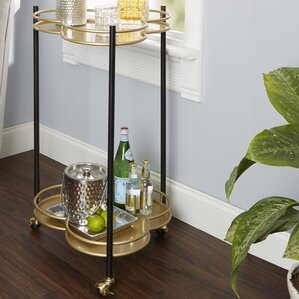 Rambha 2 Tier Clover Bar Cart by Bungalow Rose