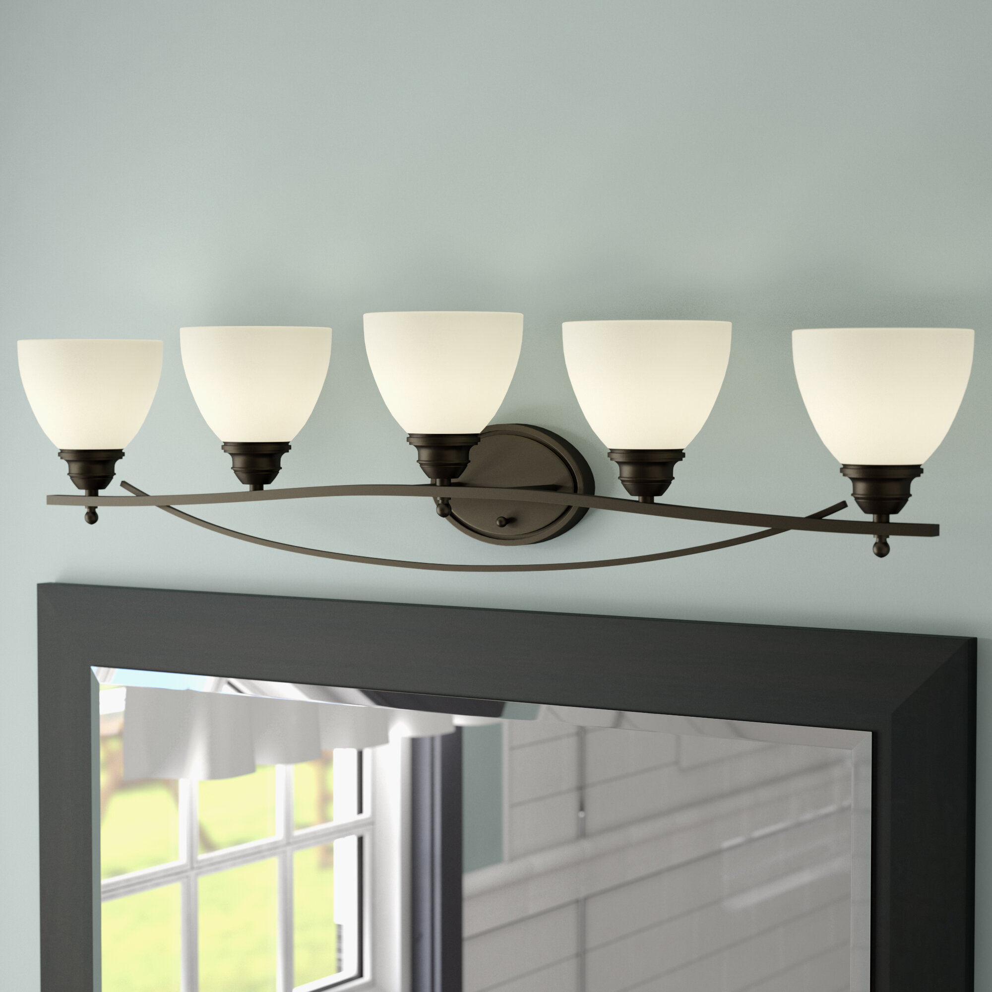 Charlton home maeystown 5 light vanity light reviews wayfair