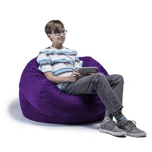 Bean Bag Chairs For Kids Purple purple bean bag chairs you'll love | wayfair
