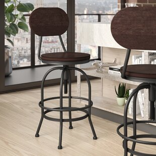 Nona Adjustable Height Swivel Bar Stool