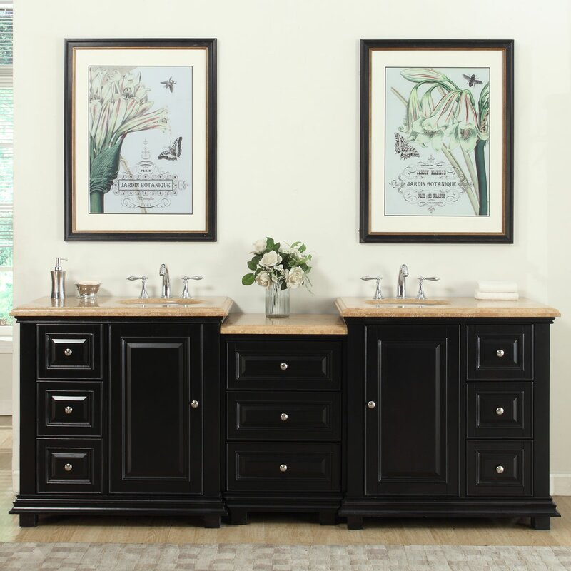 5 double sink vanity. 90 5  Double Sink Bathroom Modular Vanity Set Silkroad Exclusive