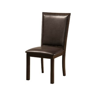 Lapp Rubberwood Faux Leather Upholstered Dining Chair (Set of 2)