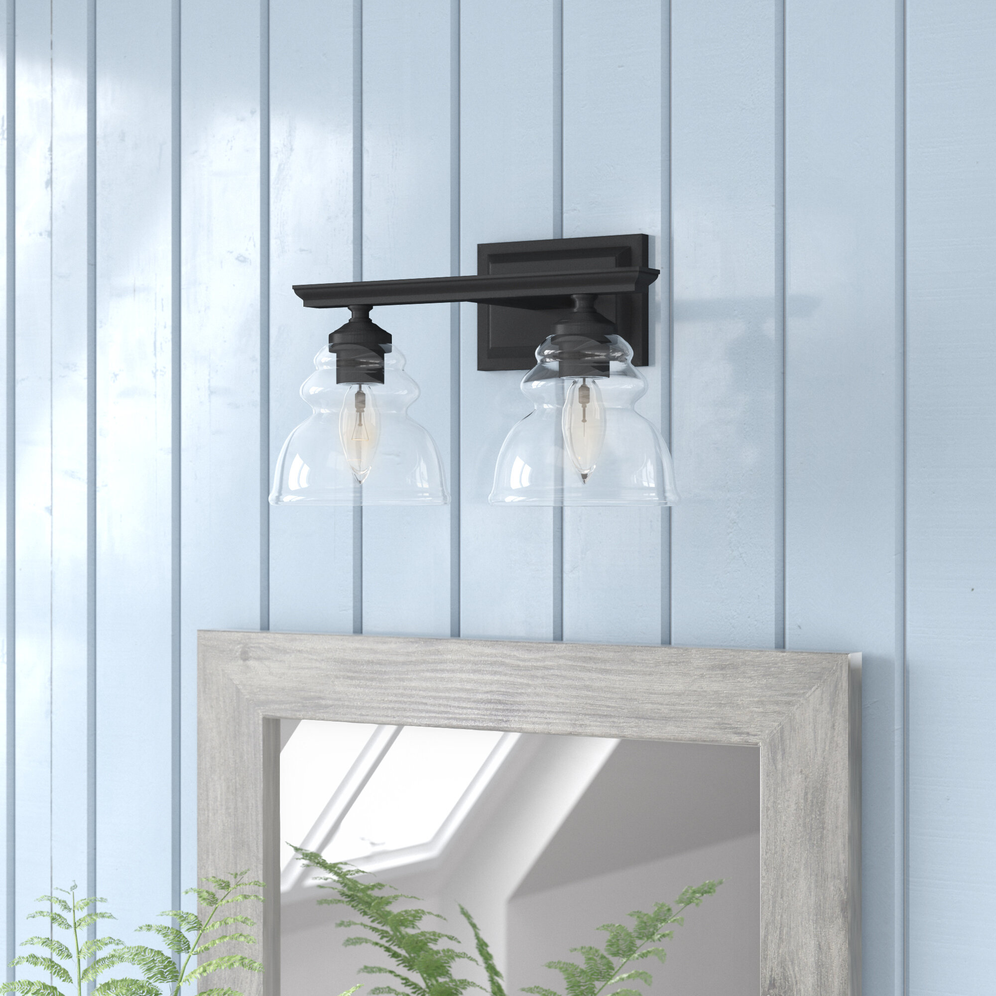 Laurel foundry modern farmhouse alene 2 light armed sconce reviews wayfair