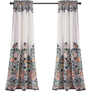 Blue Paisley Curtains Drapes