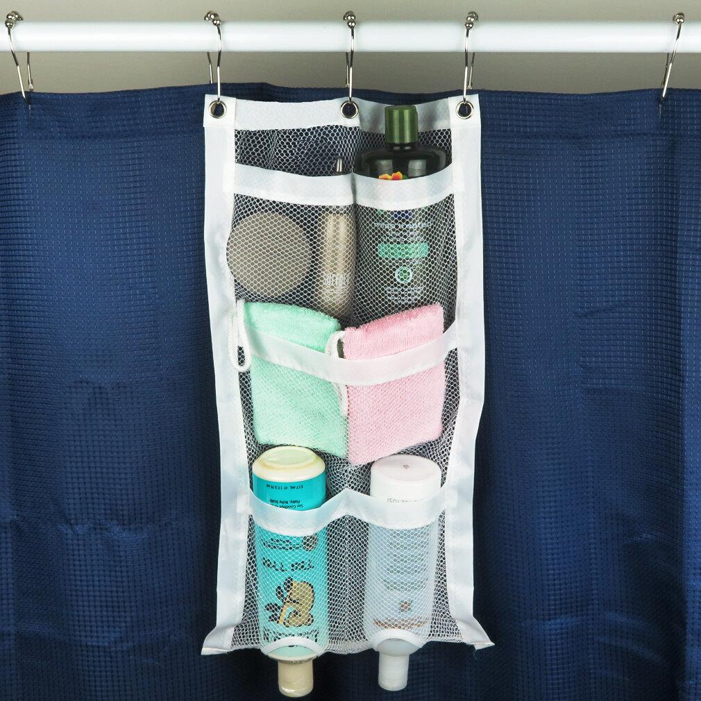 Evelots Bathroom Mesh Shower Organizer