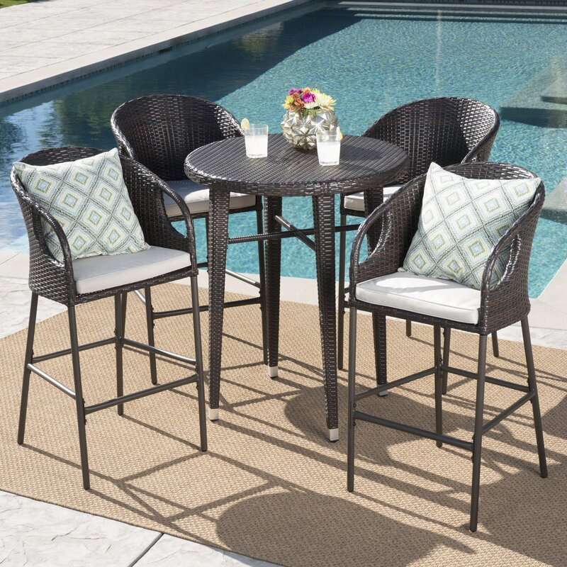 Astonishing Gatti Outdoor Bar Height Dining Set Home Interior And Landscaping Ologienasavecom