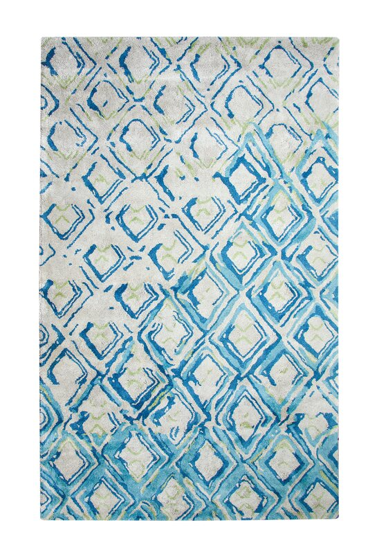 dynamic rugs vogue hand woven gray turquoise area rug reviews wayfair. Black Bedroom Furniture Sets. Home Design Ideas
