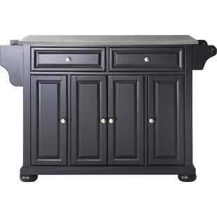 August Grove Carrolltown Wood Kitchen Island Wayfair