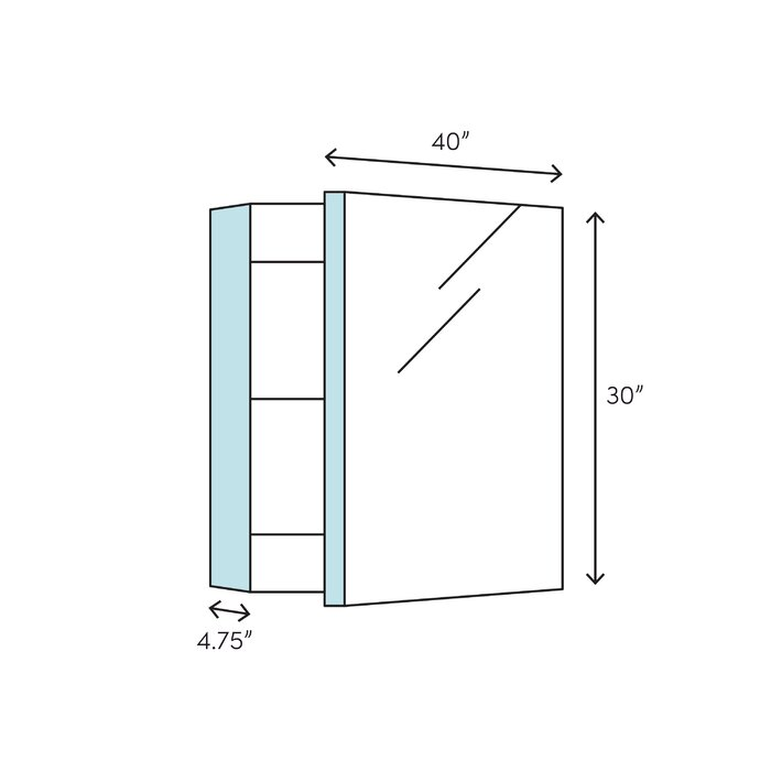 Swell Verdera 40 X 30 Aluminum Medicine Cabinet Download Free Architecture Designs Sospemadebymaigaardcom