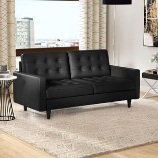Black Tufted Leather Sofas You\'ll Love | Wayfair