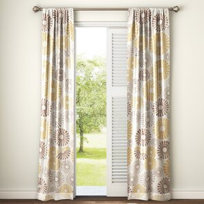 Delightful Totterdown Nature/Floral Room Darkening Thermal Rod Pocket Curtain Panels  (Set Of 2)